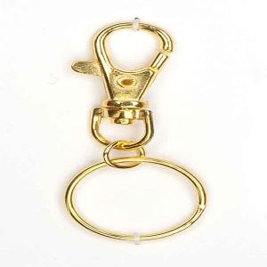 Schlüsselring 25 mm mit Karabiner. Goldfarbig Metall. Karabiner mit Schlüsselring. - Handarbeit kaufen