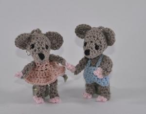 Mäuse Millie und Miles Amigurumi Häkelanleitung - Handarbeit kaufen