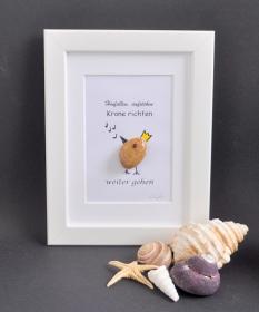 Steinbild weitergehen pebbles art, 13 x 18 - Handarbeit kaufen