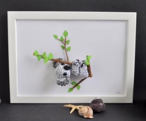 Kinderzimmerbild Koala, Bild, Dekoration, Geschenk, Geburt, Taufe, Babyparty,