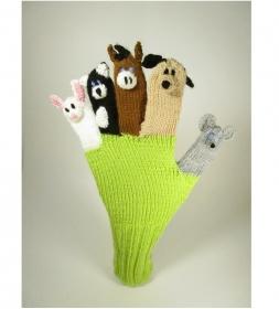 Spielhandschuh unterhalten sie ihr Kind - Haustiere - Katze,Hund,Maus,Pferd,Hase - Handarbeit kaufen