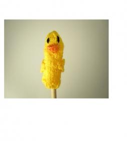 Fingerpuppe Ente - von Hand gestrickt und gehäkelt - Handarbeit kaufen