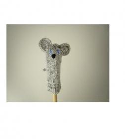 Fingerpuppe Maus - von Hand gestrickt und gehäkelt - Handarbeit kaufen