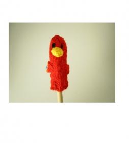 Fingerpuppe Papagei - von Hand gestrickt und gehäkelt - Handarbeit kaufen