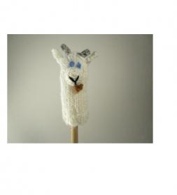 Fingerpuppe Ziege - von Hand gestrickt und gehäkelt - Handarbeit kaufen