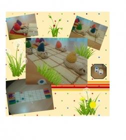 Schneckenspiel - Farben lernen auf spielerischer Art - Handarbeit kaufen