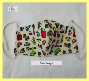 Bee Cozy ♥ Behelfsmasken für Kinder / Fahrzeuge / Mund- und Nasenschutz / Communitymasken / Alltagsmasken / ergonomische Masken / Kindermasken / dünn /sommerlich  - Handarbeit kaufen