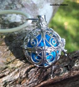 Engelsflüsterer Engelsrufer Ornamente blau - Handarbeit kaufen