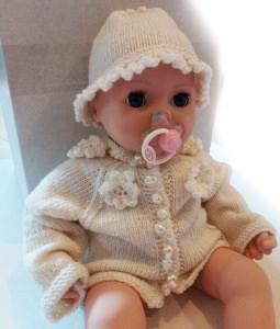 Babyjacke und Mützchen für Mädchen 0-3 Monate
