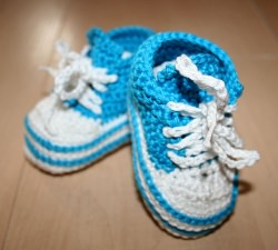 Süße Baby Chucks in Petrol für Jungs, 0 - 3 Monate