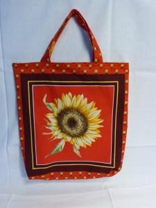 Wendetasche Einkaufstasche aus Baumwollstoff Sonnenblume