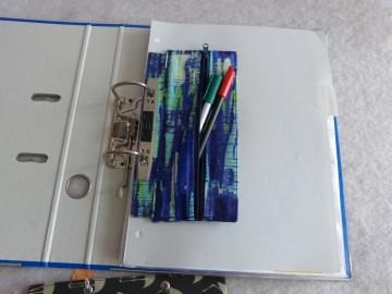 Tolles Stiftemäppchen für in den Ordner einzuheften blautöne - Handarbeit kaufen