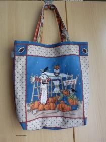Wendetasche / Einkaufstasche  mit tollem Herbst / Halloween-Motiv aus Baumwollstoff genäht - Handarbeit kaufen