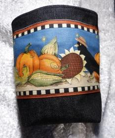 kleines Utensilio für Halloween oder Herbst  Rabe und Kürbis - Handarbeit kaufen