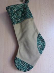 einfacher handgenähter Stiefel als Geschenkverpackung zur Weihnachtszeit  grün (Kopie id: 100254939) - Handarbeit kaufen