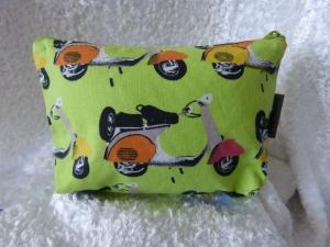 Kleine Kosmetiktasche aus Baumwollstoff Roller - Handarbeit kaufen
