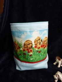 kleines Utensilio - Hunde auf der Wiese - Handarbeit kaufen