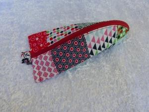 Stiftemäppchen  Baumwollstoff mit rot / grün / blau  - Handarbeit kaufen
