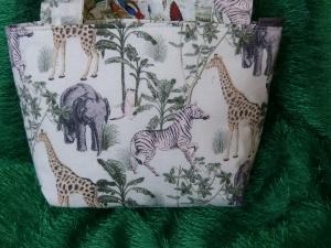 Kinder Einkaufstasche mit wilden Tieren und Vögeln - Handarbeit kaufen