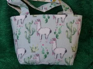 Kinder Einkaufstasche mit Lama und Kaktus und noch weitere Tiere - Handarbeit kaufen