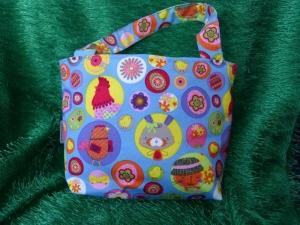 Ostertasche - kleine Einkaufstasche blau mit Oster- / Frühlingsmotiven - Handarbeit kaufen