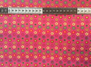 ✂   Jersey Baumwolle - Frühlingsblumen - pink
