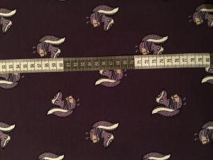 ✂   Jersey Baumwolle - Skunky lila  - Stinktiere
