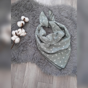 Musselintuch / Tuch zum binden Kids - ca. 70x70cm  - Anker grau - Handarbeit kaufen