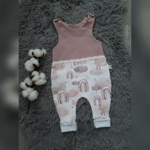 Strampler Baby Gr56 Regenbogen rosa littlelove Stoff