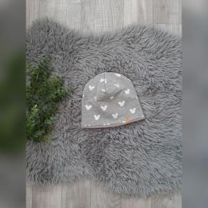Beanie / Fleecemütze / Wintermütze  Baby - KU43-45cm -  Sweat/Fleece Mickey Mouse grau - Handarbeit kaufen