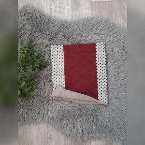 Loop / Fleeceloop Baby/Kind - ab KU49cm - Sweat Herzen grau/bordeaux - Handarbeit kaufen