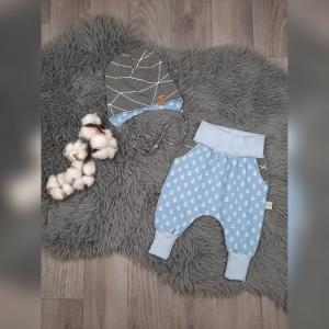 Newborn Set Babyhose/Pumphose  & Babymütze - Jersey Anker hellblau - Handarbeit kaufen