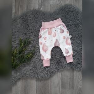 Pumphose / Mitwachshose / Babyhose  Gr44-116  - Sommersweat  Cotton Candy rosa mit Hosentaschen  (Littlelove Design) - Handarbeit kaufen