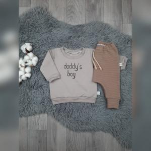 Newborn Set Gr62 Slim Harempants + Sweater/Pullover mit  Spruch  - Handarbeit kaufen