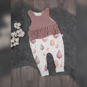 Newborn Strampler / Romper Baby Gr 44-92 - Sweat Cotton Candy rosa (Littlelove Design) - Handarbeit kaufen