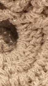 Schal, Tuch ,Dreiecktuch oder als Schal gehäkelt mit Glitzereffekt