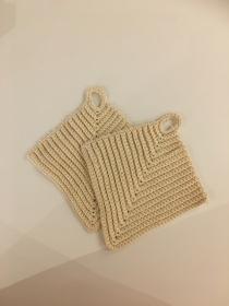 Topflappen gehäkelt  aus Baumwolle  - Handarbeit kaufen