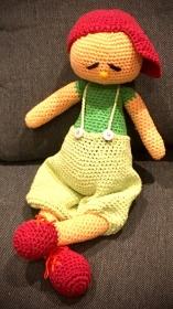 Der kleine, große Freddi, gehäkelt aus Baumwolle und waschbar. - Handarbeit kaufen