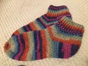 Wollsocken gehäkelt in Größe 39 / 40 - keine kalten Füße mehr :)) - Handarbeit kaufen