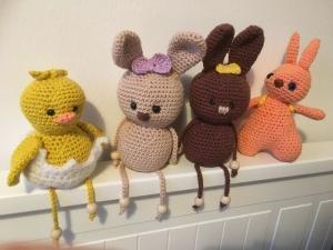 Oster - Dekoration, Häschen, Küken, Eier gehäkelt aus Baumwolle - Handarbeit kaufen
