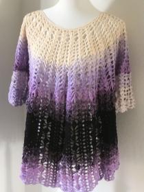 Damen Pulli  Größe 44/46 aus Baumwolle gehäkelt, jetzt zugreifen ! - Handarbeit kaufen