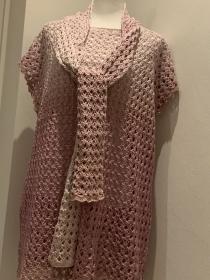 Sommerpulli - Longshirt in einem Stäbchenmuster gehäkelt  - Handarbeit kaufen