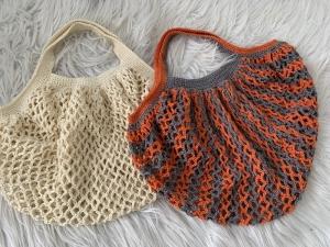 Baumwollnetz zum nachhaltigen Einkauf ohne Plastik - gleich bestellen ! - Handarbeit kaufen