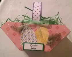 Osterkörbchen (Osternest) mit Gras