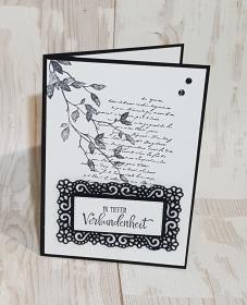 Besondere Trauerkarte mit liebe gebastel - Handarbeit kaufen