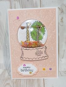 Wunderschöne handgefertigte Geburtstagskarte für ein Mädchen - Handarbeit kaufen