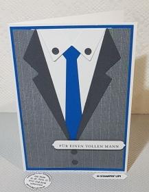 Schöne Grußkarte für einen Mann - Handarbeit kaufen