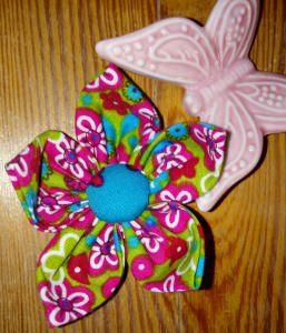 Handgemachte selbst genähte tolle Haarspangen - Blume