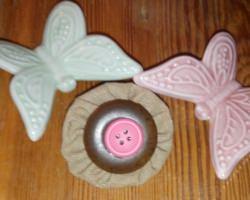Handgemachte selbst genähte bunte Haarspangen - Blume