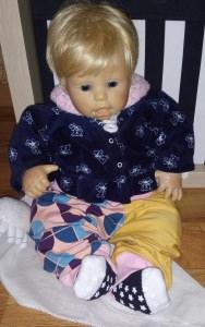 niedliche Pumphose/ Haremshose für Kleinkinder Gr 68